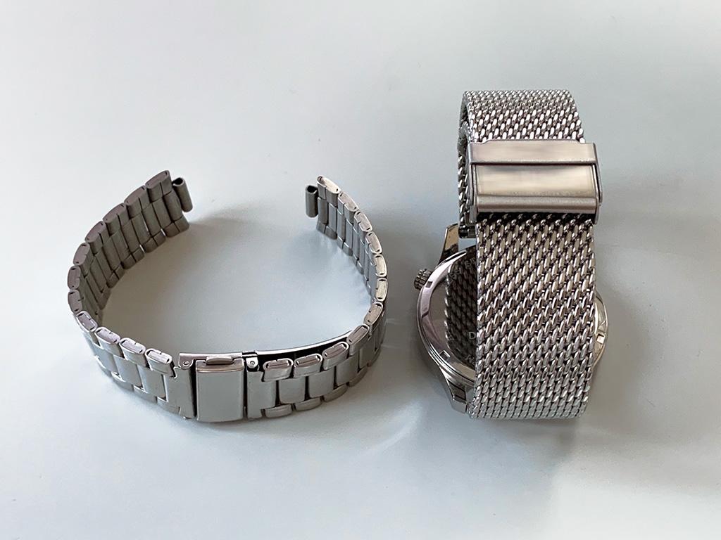 腕時計OEM用ベルト標準品(ステンレスベルト2種)