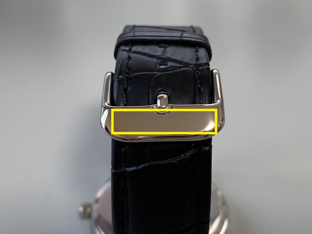 腕時計OEM ベルトの尾錠に刻印可
